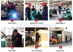 Diesel generator set production