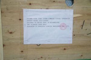150kw Cummins diesel generator shipping marks
