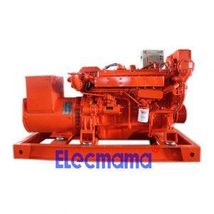 90kw Yuchai marine auxiliary diesel generator set