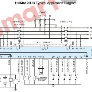 Smartgen HGM 6120UC typical appllication diagram