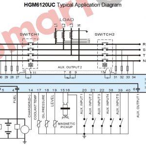 Smartgen HGM 6120UC typical appllication diagram