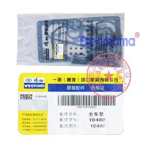 Yangdong YD480D overhaul gasket kit