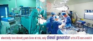 standby emergency diesel power generator for hospital