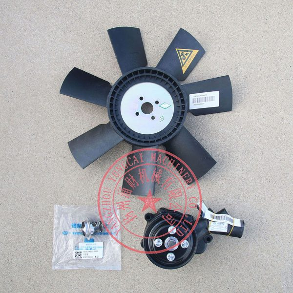 FAW 4DW81-23D radiator fan propeller, water pump and thermostat