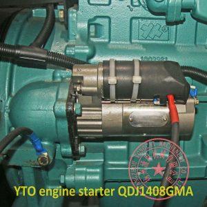 YTO LR4B5-15 starter motor QDJ1408GMA 12V 3.8kw