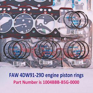 FAW 4DW91-29D engine piston rings 1004BBB-B5G-0000